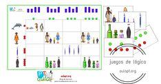 Las tablas de doble entrada son una fantástica manera de trabajar la lógica tanto en educación infantil como en primeros cursos de primaria. Desarrollan en