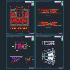 Cinema architecture design, a collection of 11 cinema building designs (AutoCad drawings)   Architecture for Design