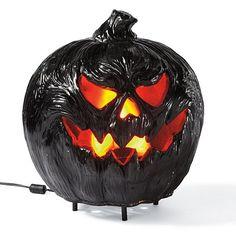 Grandin Road Flaming Pumpkin