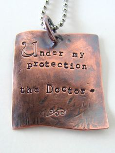 Doctor Who Under My Protection Custom Pendant by stephaniedistler, $32.00