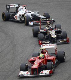 Formula 1 2012. Massa, Iceman, Kobayashi.