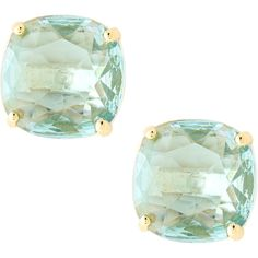 Kate Spade New York small square stud earrings ($38) ❤ liked on Polyvore featuring jewelry, earrings, accessories, brincos, blue, kate spade earrings, kate spade, post back earring, earring jewelry and kate spade jewelry
