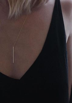 Vertical Bar Necklace | Vrai & Oro | #truthandgold