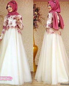 Image may contain: 2 people Muslim Wedding Dresses, Eid Dresses, Muslim Brides, Muslim Dress, Modest Dresses, Bridal Dresses, Muslim Girls, Muslim Women, Dress Wedding