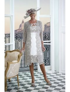Veromia Dress Code DC303 Soft Lace Coat With Dress