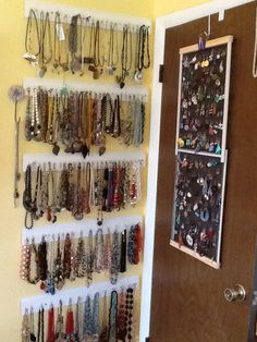 Pinterest Inspired Decor Jewelry wall Hardware and Walls