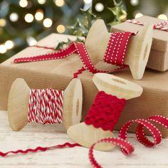 Festliche Weihnachten Farbbänder Set Für Geschenke - Vintage Noel