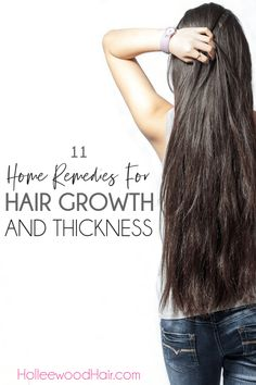 Natural Remedies For Hair Growth Want longer and thicker hair? Here are 11 super effective home remedies for hair growth and thickness that you can start doing today. Hair Remedies For Growth, Home Remedies For Hair, Hair Growth Treatment, Hair Loss Remedies, Hair Growth Tips, Hair Thickening Remedies, Remedies For Thick Hair, Diy Quick Hair Growth, Thicken Hair Naturally