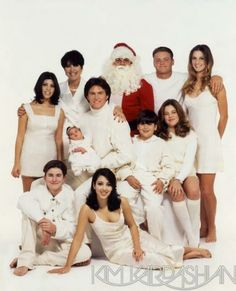 I love looking at the old kardashian Christmas card pictures :)
