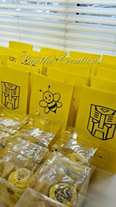 Transformers Bumblebee Autobots Party Bags And Cupcake Boxes Personalised Facebook PapilioCreations