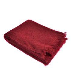 Joanna Wood Vintage Red Mohair Throw  #wrapup #warm #joannawood