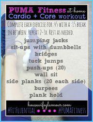Puma Fitness Cardio + Core Workout | Housewife Glamour