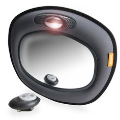 Amazon.com : BRICA Day & Night Light Musical Auto Mirror for in Car Safety, Grey : Child Safety Car Seat Accessories : Baby