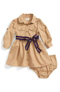 Ralph+Lauren+Chino+Shirtdress+&+Bloomers+(Baby+Girls)+available+at+#Nordstrom