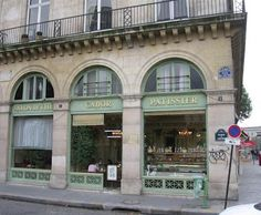 CADOR PATISSERIE exterior across from the Louvre, our go to for croissants & café au lait.