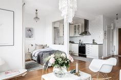 Scandinavian studio apartment Follow Gravity Home: Blog - Instagram - Pinterest - Bloglovin - Facebook