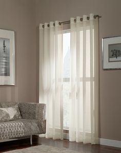 Melrose Shimmer Sheer Grommet Curtain Panel / Curtainworks.com
