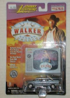 """Johnny Lightning Chuck Norris Walker Texas Ranger Dodge Truck by playing mantis. $38.88. Authentic Real Wheel Series """"Rubber"""" Tires and Cragar Mag Rims!. Heavyweight Die-Cast Metal - Body AND Chassis. BONUS!  Collectable Photo Card Included. Specially Designed for the Adult Collector. Long out of production item is new in unopened package."""