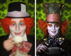 mad hatter halloween costume men makeup tutorial