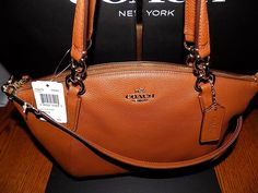NWT Coach  F36675  Pebble Leather Small Kelsey Satchel Crossbody Bag SADDLE $295 $169.99