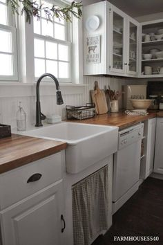 I just like the sink itself in this. Also kind of like the idea of open cabinets.