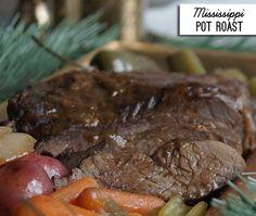 Slow Cooked Mississippi pot roast