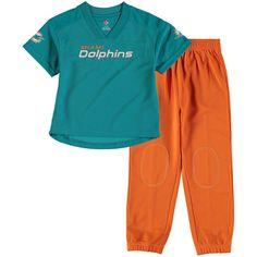 Miami Dolphins Toddler Fan Gear Lil  Field Pant Set - Aqua Orange 3c01698f2