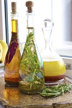 herb infused olive oil ..