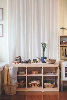 Creating child-friendly spaces in your home — Chantelle Grady playroom decor, kid room decor, toy storage Trofast Ikea, Ideas Habitaciones, Montessori Playroom, Montessori Toddler Rooms, Kids Play Spaces, Kids Bedroom, Bedroom Decor, Ikea Kids Room, Playroom Decor