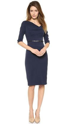Black Halo 3/4 Sleeve Jackie O Dress, I must have you in every color