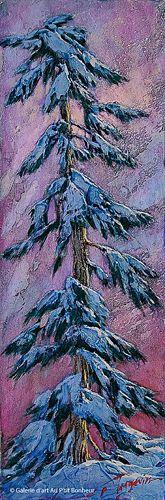 David Langevin, 'Purple Snow', 6'' x 18'' | Galerie d'art - Au P'tit Bonheur - Art Gallery