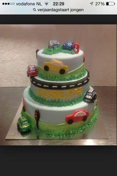 Verjaardagstaart auto