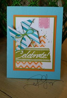 Fun Stampers Journey pinwheel card By Richard Garay