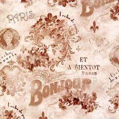 Bonjour Paris Fabric