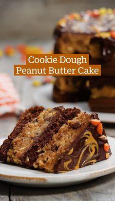Gourmet Recipes, Baking Recipes, Cake Recipes, Dessert Recipes, Desserts, Tastemade Recipes, Peanut Butter Recipes, Occasion Cakes, Chocolate Recipes