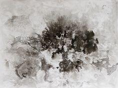 MANCHA N°4, tinta china, esmalte sintetico s-papel, 2012. Adriana Lugones