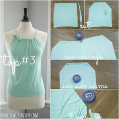 Today I'm bringing you THREE easy-to-sew tops for SUMMER! is it Summer yet, y'all? Each of these tops is sewn with a light weight jersey knit. My one tip on sewing with jersey knit is to purchase a ball point needle, it will make sewing with this stuff SEW much easier! Also, all edges are…