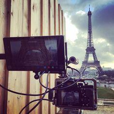 """#Paris #workinprogress #flatmind #shooting #broll #fegatelli #video #cameraporn #sony #a7s #atomos #shogun #4k #canon70200 #movcam from #shanghai To…"""