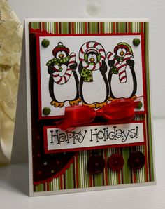 Christmas Card  Handmade Greeting Card  Happy by CardInspired, $3.75