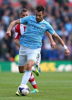~ Alvaro Negredo of Manchester City against Stoke City ~