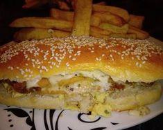 Pan para Sandwich de Milanesas Receta de 𝒞ℯ𝓁ℯ 𝒞𝒶𝓈𝓉𝒶ñℯ𝒹𝒶 🥰- Cookpad Pan Rapido, Sandwiches, Pulled Pork, Hamburger, Bread, Ethnic Recipes, Food, Delivery, Bread Recipes