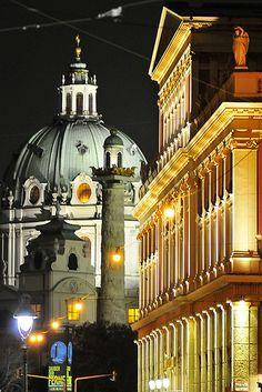Musikverein, Karlskirche - Vienna, Austria
