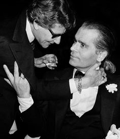 YSL and KARL LAGERFELD