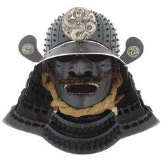 Kabuto Samurai, Samurai Weapons, Samurai Helmet, Samurai Armor, Arm Armor, Japanese Mask, Japanese Warrior, Japanese Dragon, Dragon Armor