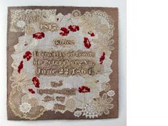 Susan Lenz grave rubbing quilt