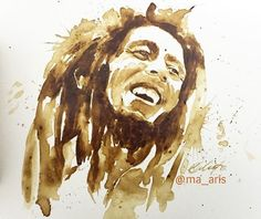 Coffee Art This amazing artist Maria A. Aristidou, create a series of painting art by coffee remains.. check this out !
