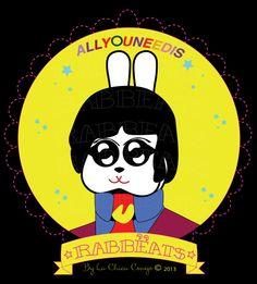 Paul Rabbëat* Yellow Submarine_Special Edition* Rabbëats by La Chica Conejo © 2013 All Rights Reserved #PaulMcartney #yellowsubmarine #poster #totebags #tshirts #rabbeatsbylachicaconejo #rabbeats #specialedition #yellowsubmarine #canyoupasstheacidtest #love #yes #AllYouNeedIsLove #camafeos #cameos #rings #tshirts #personajes #anillos #totebags #rabbeatsbylachicaconejo