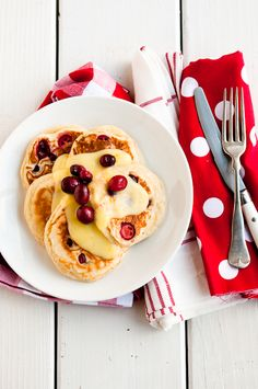 Desserts for Breakfast: PotW: Christmas Morning: Cranberry-Nutmeg Pancakes with Lemon Curd