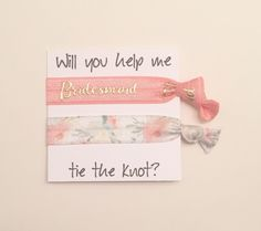 A personal favorite from my Etsy shop https://www.etsy.com/listing/269503818/bridesmaid-hair-tie-favorhair-tie