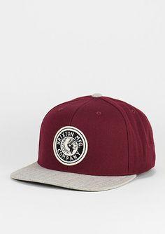 Brixton Snapback-Cap Rival Medium Profile burgundy/grey - Accessoires Caps Snapback Caps